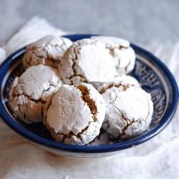 עוגיות שקדים וורדים זריזות Ghriba