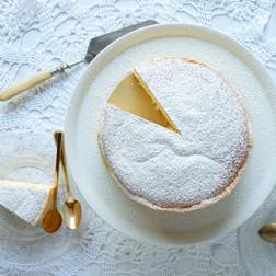 עוגת גבינה יפנית משלושה מרכיבים