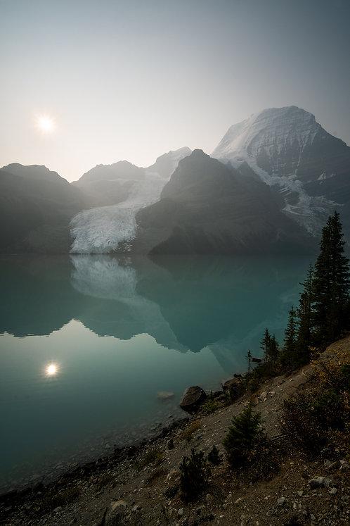 Berg Lake Smokey day