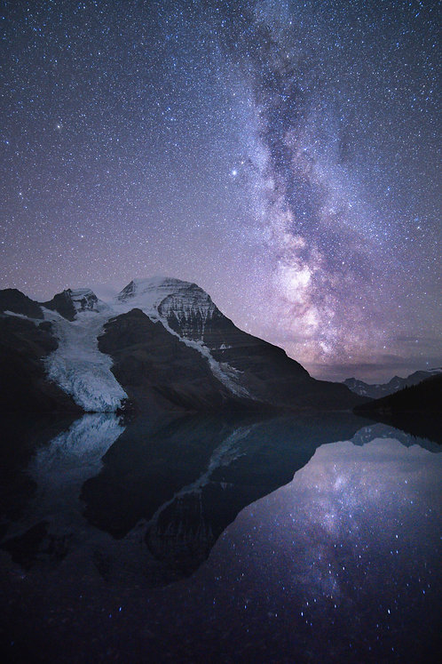 Mighty Mount Robson Under the Stars