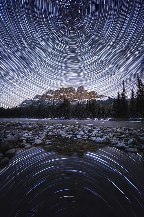Star Trails over Castle Mountain