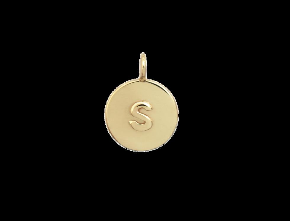 Small double medallion letter + letter