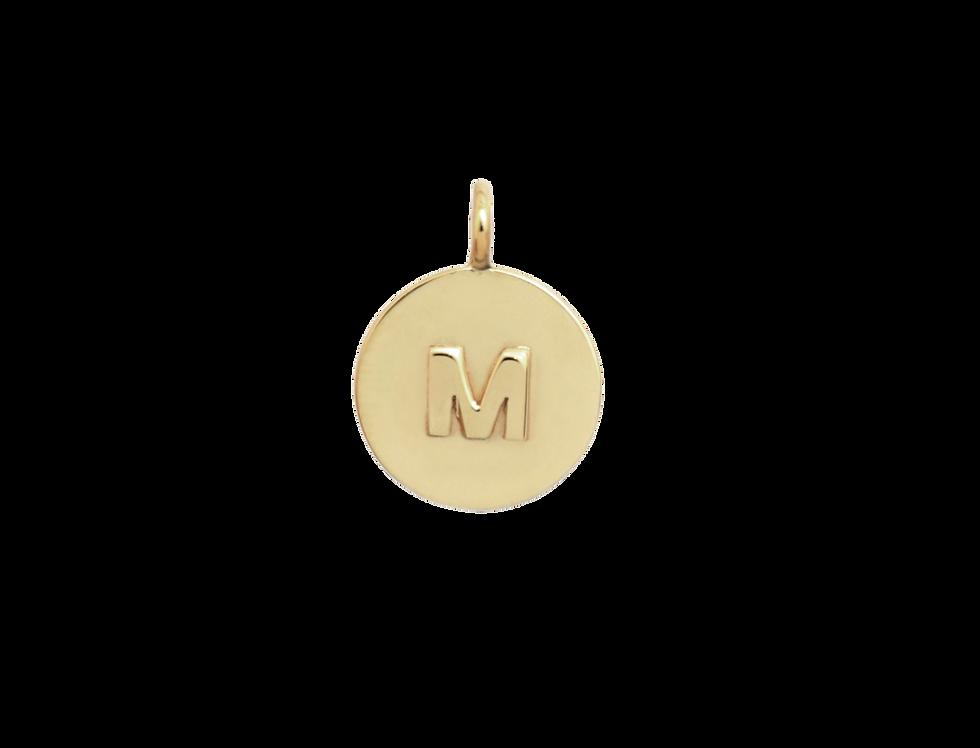 Small letter medallion