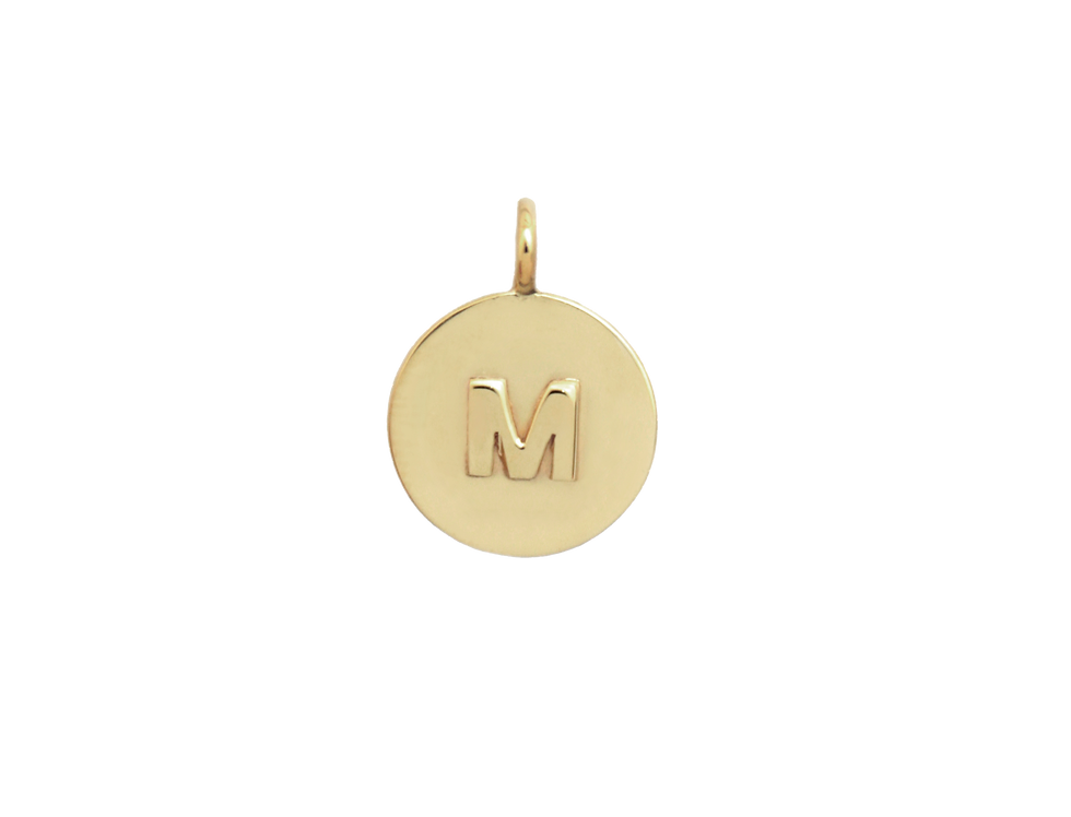 Small double medallion letter + zodiac