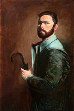 Self Portrait with Rain Coat