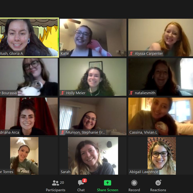 First Zoom meeting