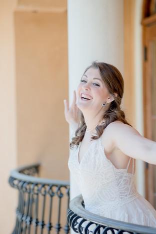 beautiful happy laughing Savannah bride