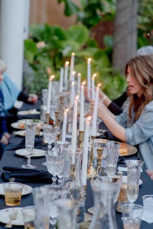 beautiful savannah wedding table by candlelight