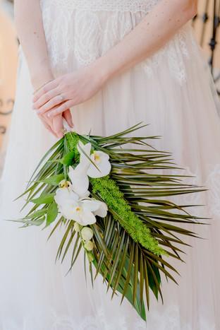 tropical savannah wedding bouquet