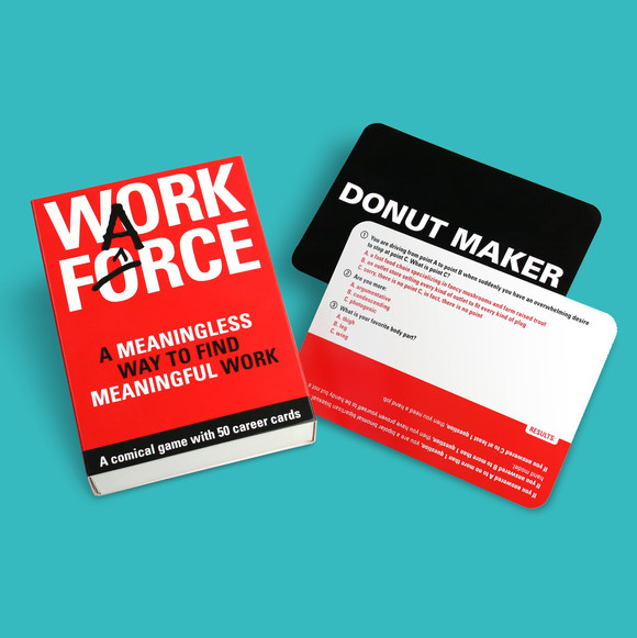 Work Farce: The Imagineering Company needed a clever and bold package design for their new card game.