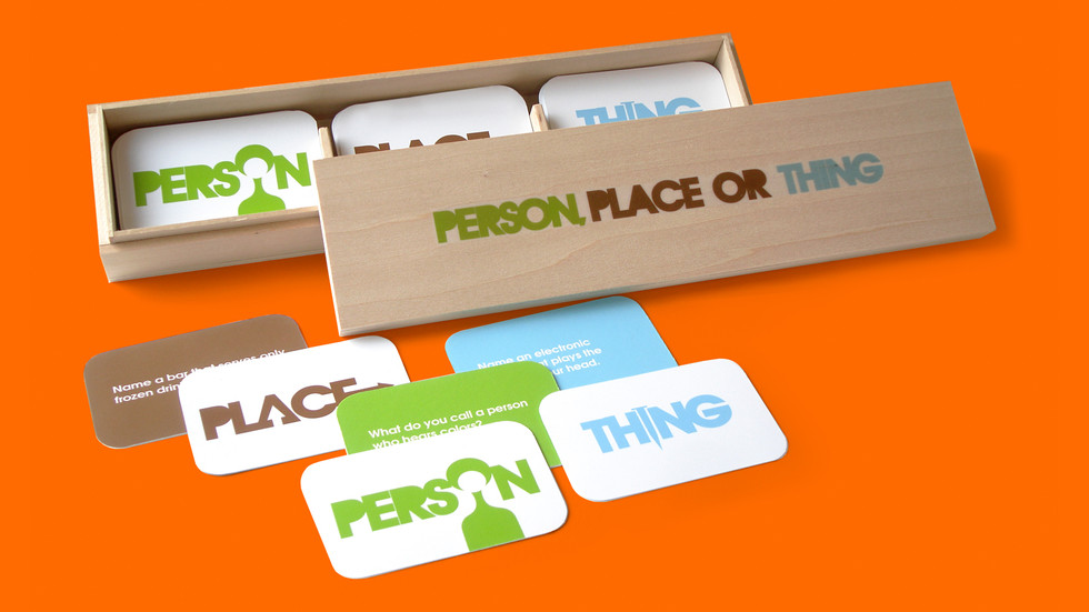 Person, Place or Thing: A concept for a guessing game