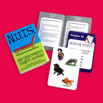 N.U.T.S.: The Imagineering Company needed a package design that reflected the silly style of their new card game.