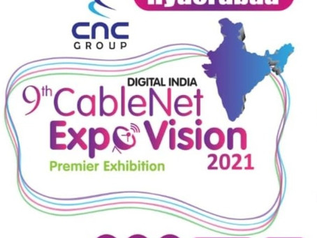Sky Wire Broadcast is in CableNet Expo 2021 Hyderabad