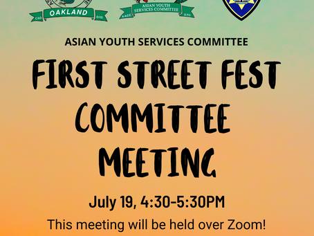 First Street Fest Meeting