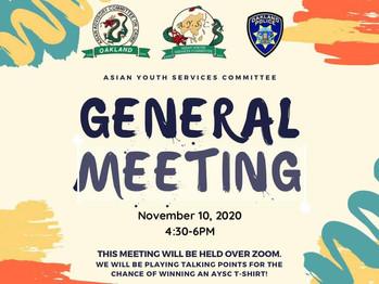 November General Meeting!