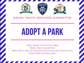 8/21 Adopt-A-Park (4:30-5:30pm)
