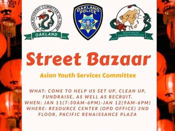 1/11-1/12 Street Bazzar (7:30am-6pm/9am-6pm)