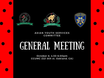 10/8 General Meeting (4:30-6pm)