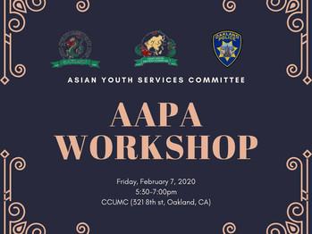 2/7 AAPA Workshop (5:30pm-7:00pm)