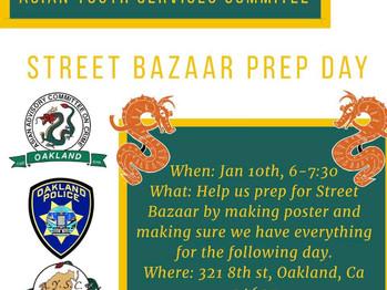 1/10 Street Bazaar Prep Day (6-7:30pm)