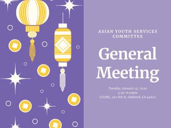 1/14 General Meeting (4:30pm-6:00pm)