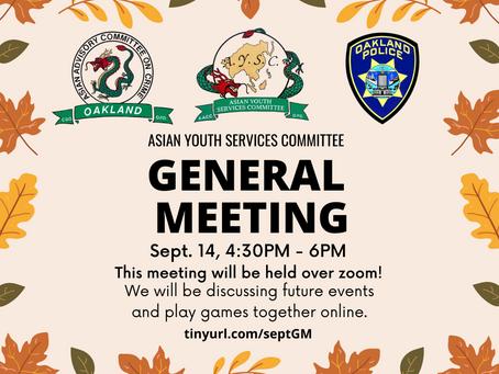 September General Meeting