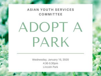 1/15 Adopt A Park (4:30pm-5:30pm)