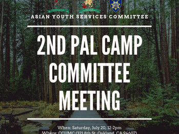 2nd PAL Camp Committee Meeting (12-2pm)