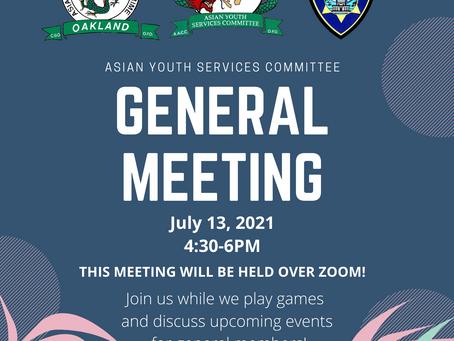July General Meeting