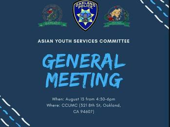 8/14 General Meeting (4:30-6pm)
