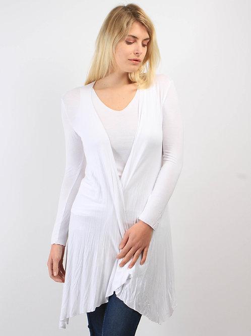 Gilet Longo Blanc