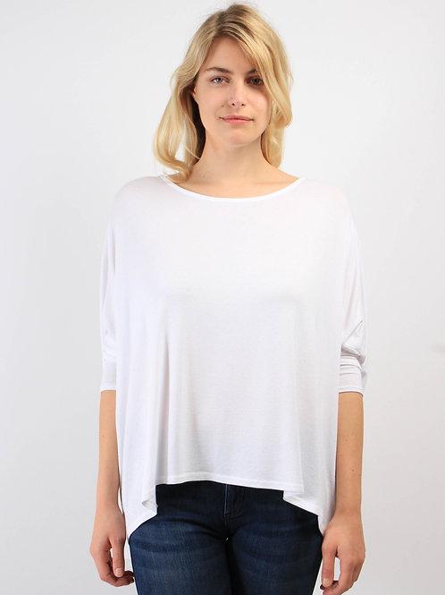 Top Oversize Blanc