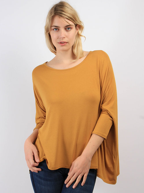 Top Oversize Moutarde