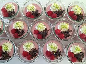 Hindbær-jordbær mousse