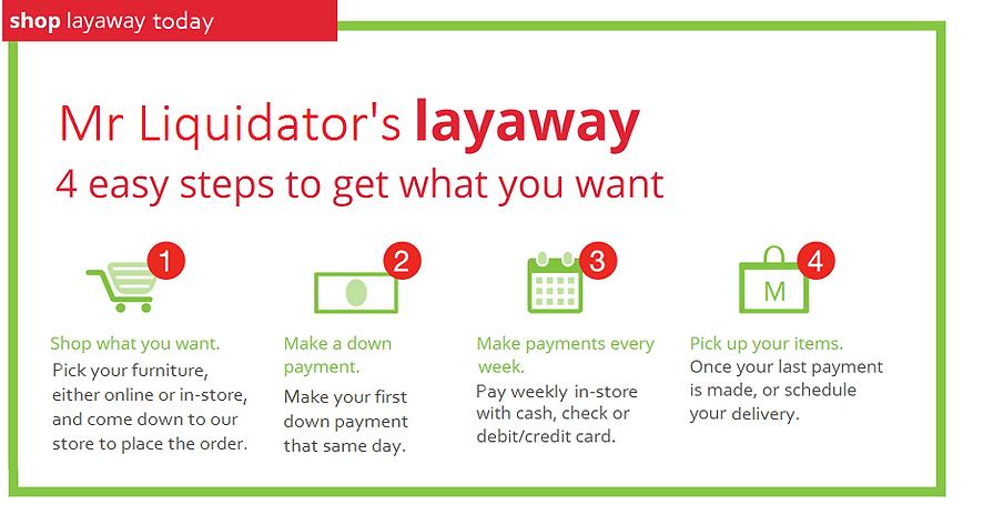 Mr Liquidator - Chelsea Discount Furniture and Mattress | Layaway | furniture layaway