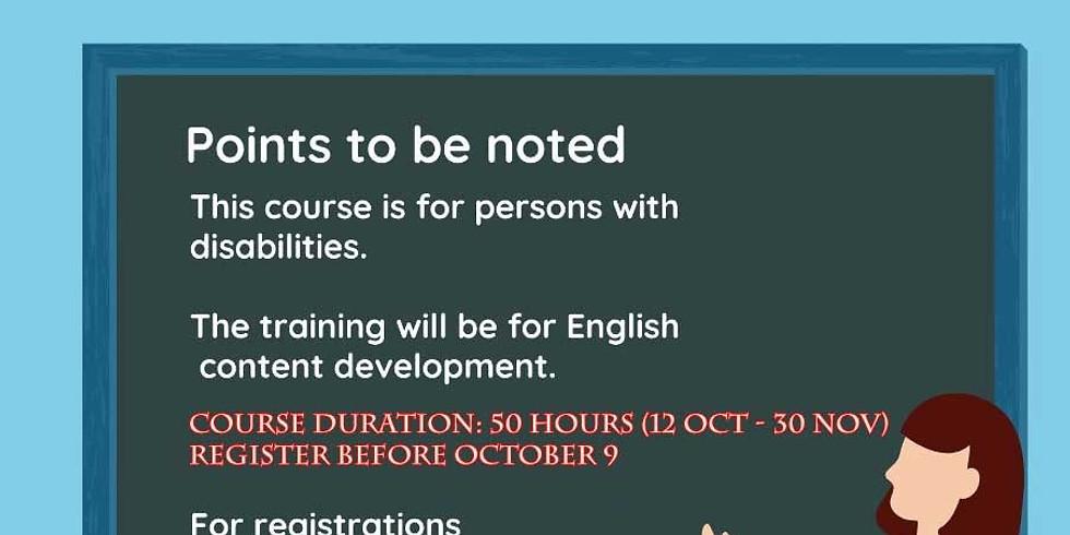 Content Development Course
