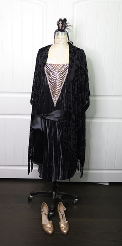 Dark Grey and Rose Gold 1920's Dress