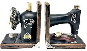 Sewing Machine Bookends