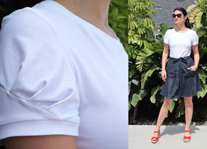Sew a Not So Basic White T-Shirt: Iris by Forget-Me-Not