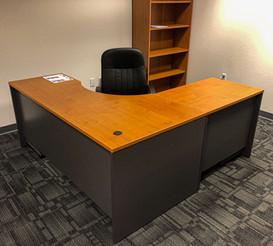 Single Tan Wood Desk_Black Chair.jpg