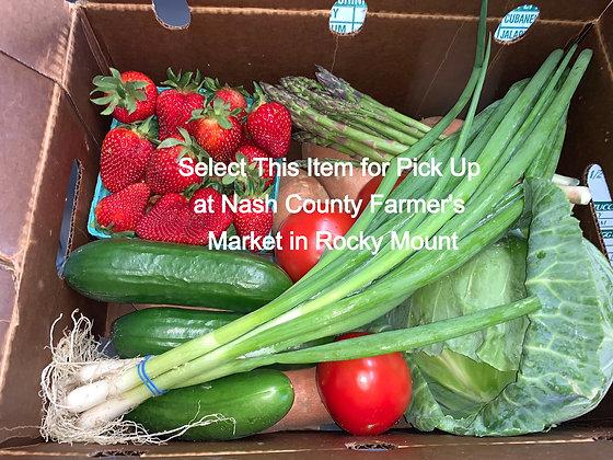 Farmer's Choice Produce Box - Pick Up At Nash Co. Farmers Market Rocky Mt