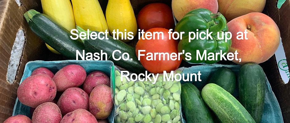 Farmer's Choice Quick Produce Box - Pick Up At Nash Co. Farmers Market Rocky Mt