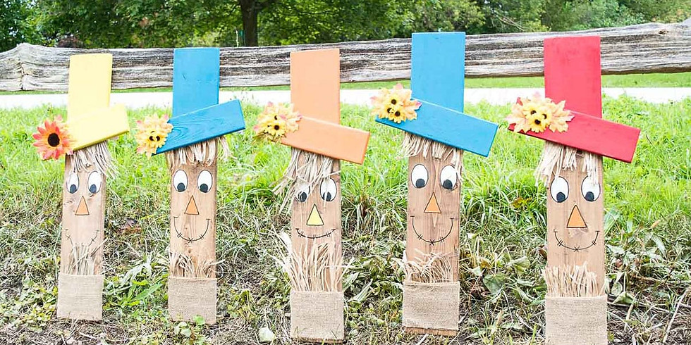 Wooden Scarecrow Painting Class - Art with Amanda