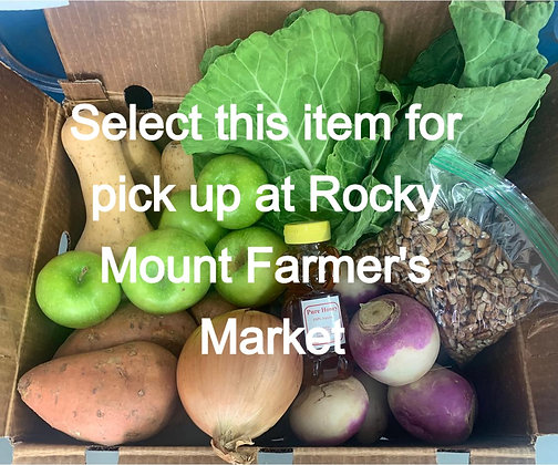 Bountiful Harvest Box - Pick Up At Nash Co. Farmers Market Rocky Mt