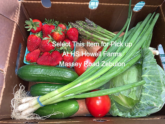 Farmer's Choice Produce Box - Pick Up At Howell Farms Massey Road Location