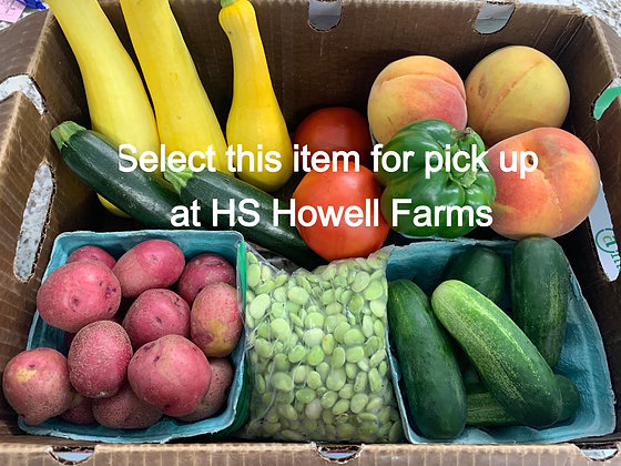 Farmer's Choice Quick Produce Box - Pick Up At Howell Farms Massey Road Location