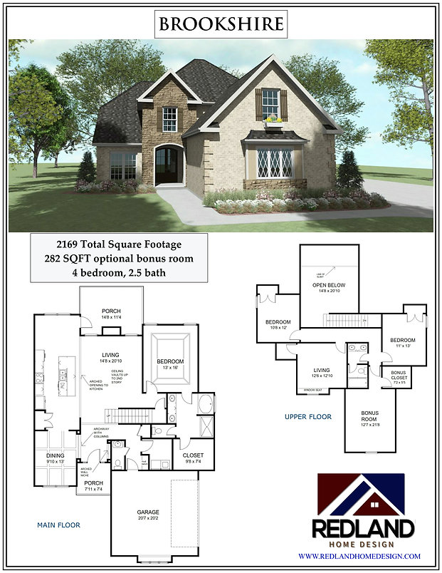Brookshire Home Plan Flyer pic