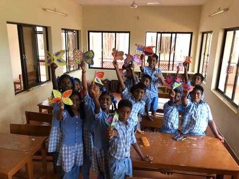 Donnez cours dans une école en Inde