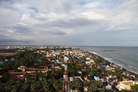 Pondichery from the light house