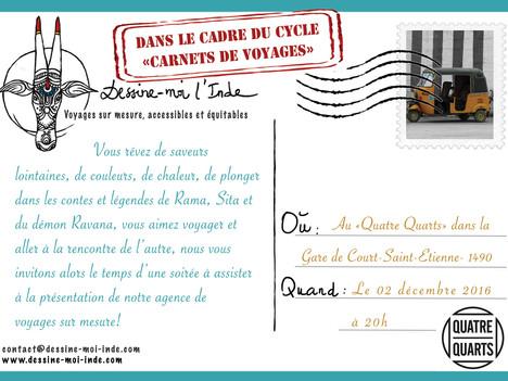 """Présentation de notre agence au café citoyen """" le Quatre Quart"""" à Court-Saint-Etienne ce 0"""